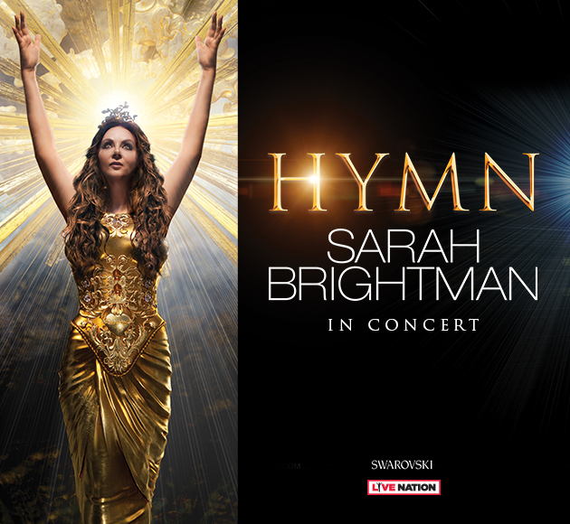 Sarah Brightman is the world's most successful soprano in Sarah Brightman in Concert - Ledyard February 1 2019