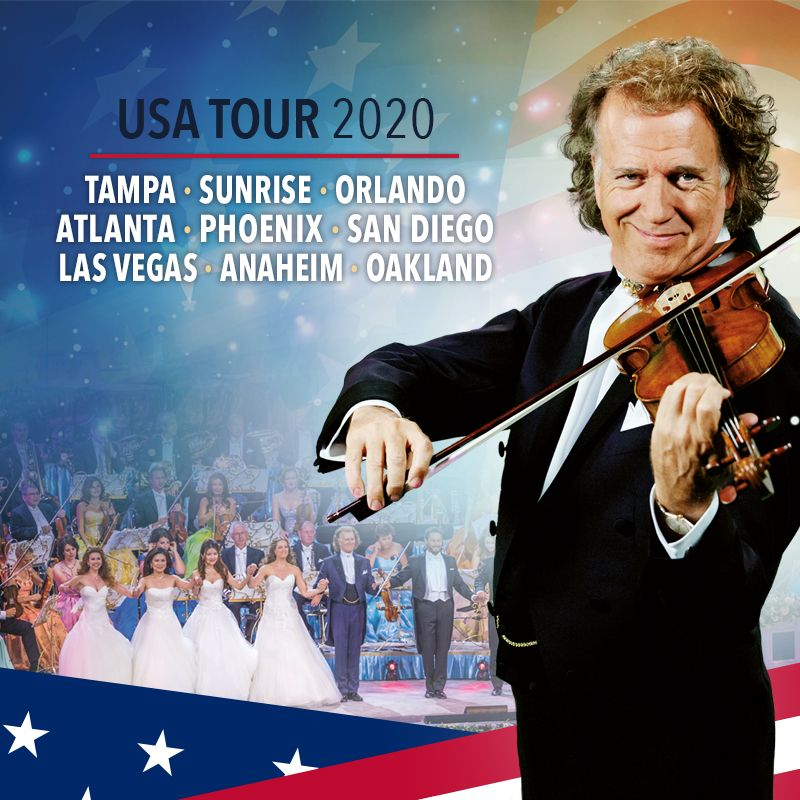 André Rieu & His Johann Strauss Orchestra in Concert in Las Vegas on March 20 2020