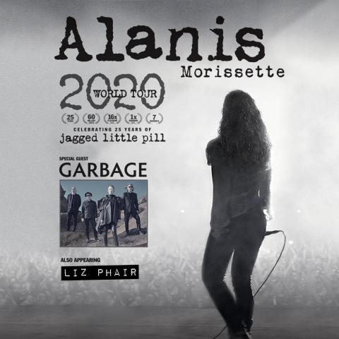 Seven time GRAMMY® Award winning singer/songwriter Alanis Morissette in Mansfield on July 9 2020
