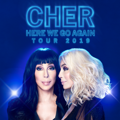 "Cher 2019 ""The Here We Go Again"" Tour in Louisville February 4 8pm 2019"