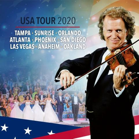André Rieu & His Johann Strauss Orchestra in Concert in Oakland on March 22 2020