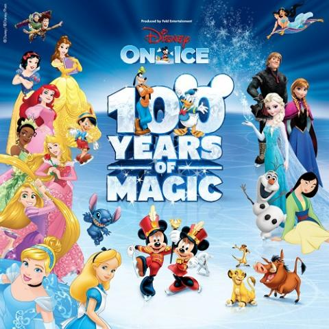 Disney On Ice: 100 Years of Magic family show in Sacramento Golden 1 Center November 1-4