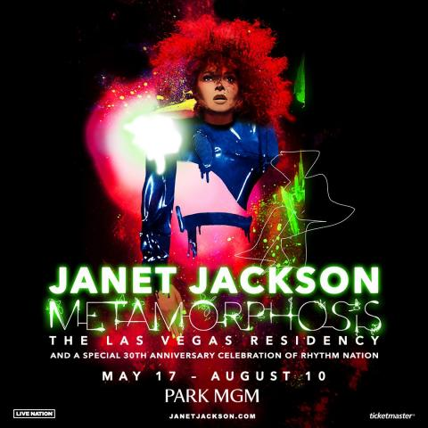 Global music icon Janet Jackson is scheduled to perform in Las Vegas on May 17 and August 10 2019