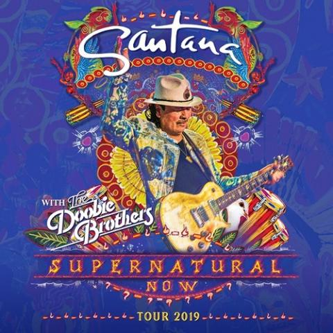 Grammy Award-winning Carlos Santana in the Supernatural Now tour in Tinley Park on August 4 2019