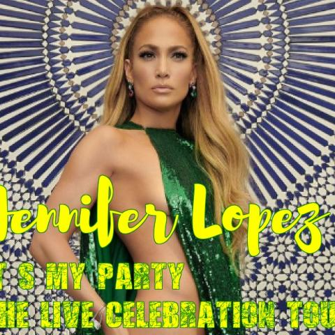 Jennifer Lopez in her second-ever concert tour. The It's My Party: The Live Celebration tour in Edinburg on June 22 2019